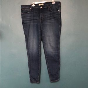 Madewell plus size high rise skinny jean